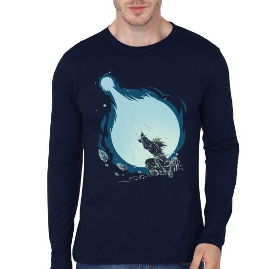 dragon ball navy blue tee
