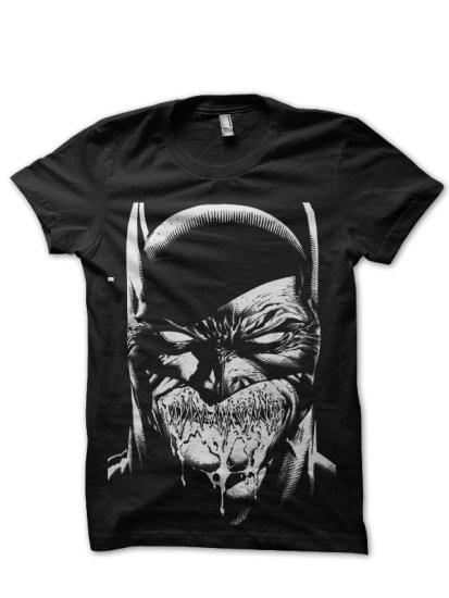 crazy batman black tee