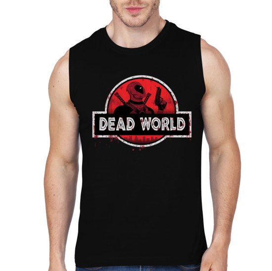 deadpool black vest