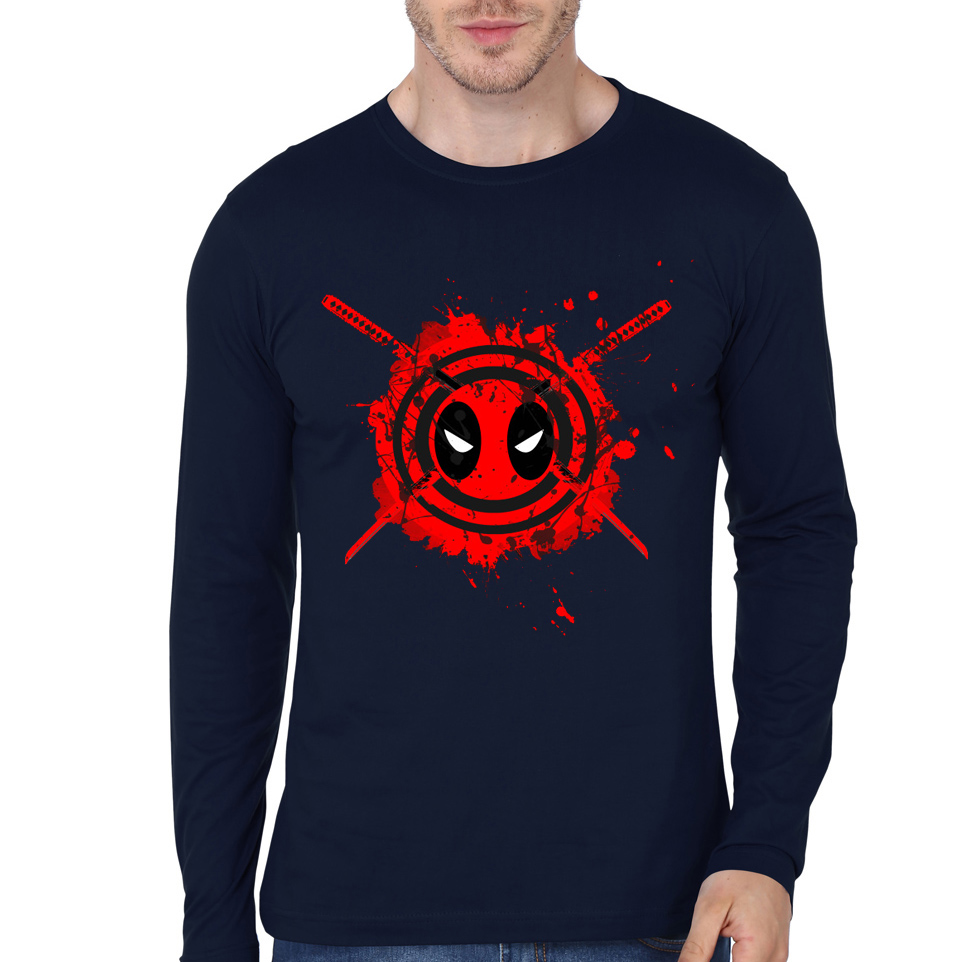 deadpool navy blue tee