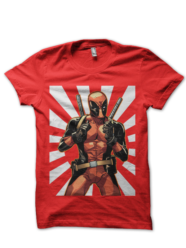 deadpool red tee