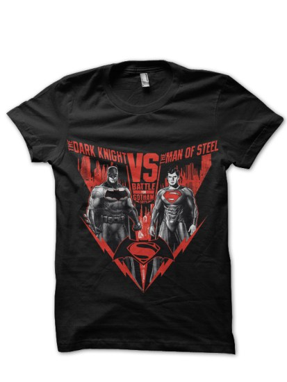 batman v superman black tshirt