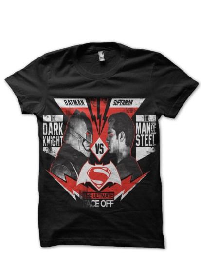 batman vs superman black tee