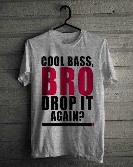 cool bass grey t-shirt
