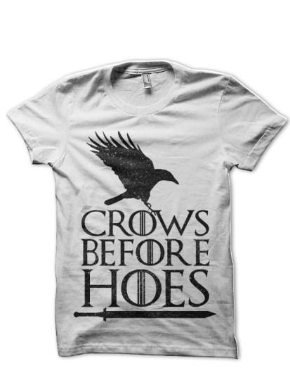 crow white tee