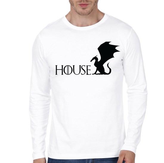 house white tee