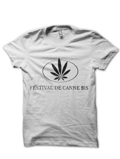 weed white t-shirt
