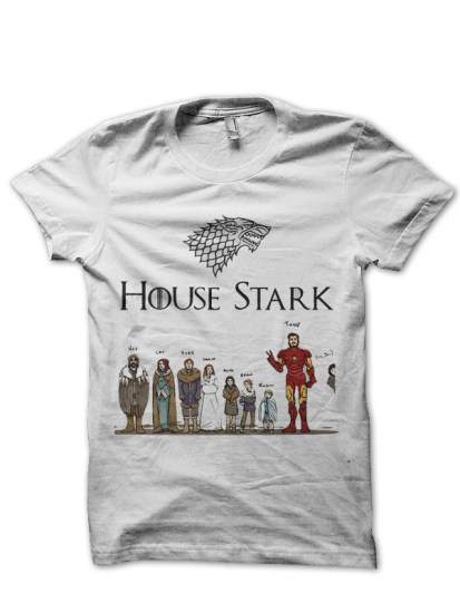 Full house stark white t shirt Where can i buy game of thrones t shirts