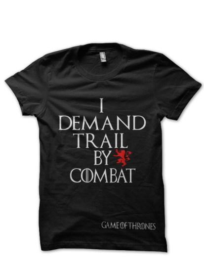 train by combat black t-shirt