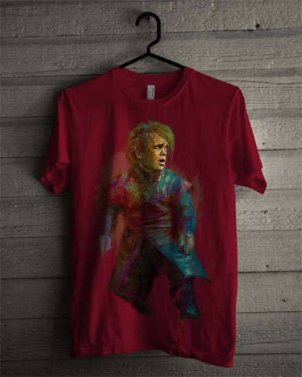 tyrion lannister maroon t-shirt