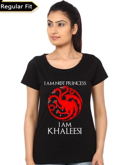 i am khaleesi black girls t-shirt