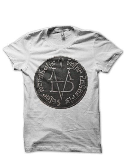 valar morghulis coin white tshirt