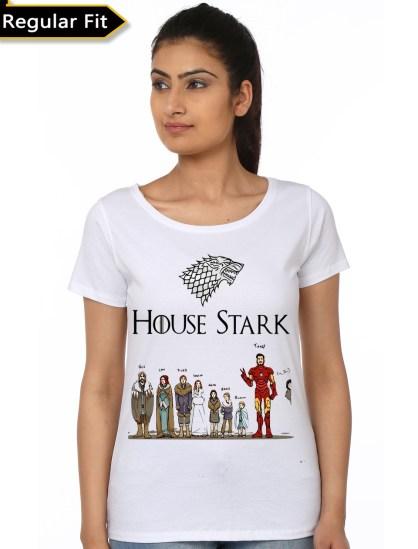 full house stark girls white t-shirt