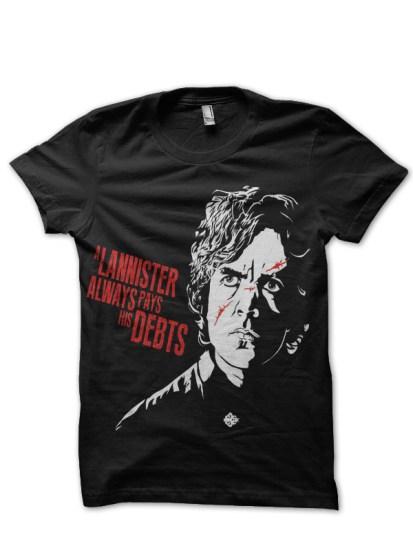 lannister black t-shirt