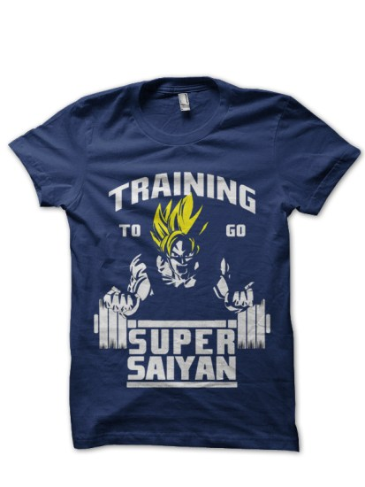 super saiyan navy blue t-shirt