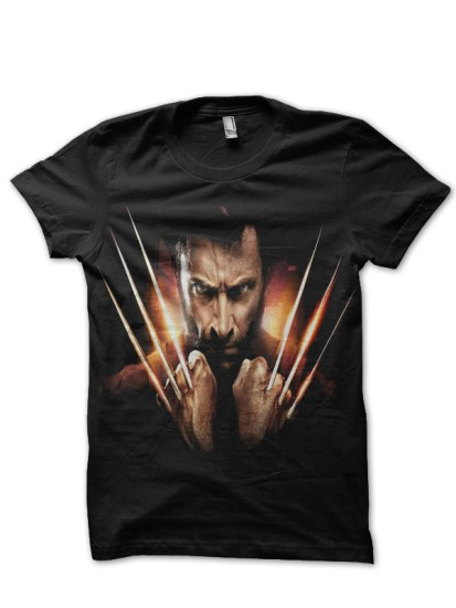 wolverine black t-shirt
