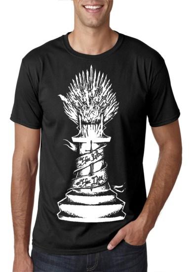 iron throne black t-shirt