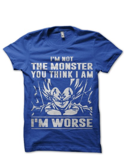 monster vegeta royal blue  t-shirt