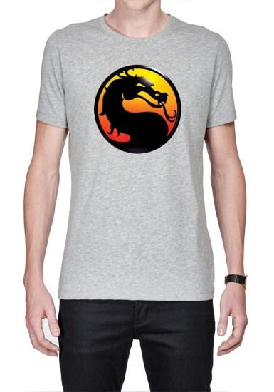 mortal kombat grey t-shirt