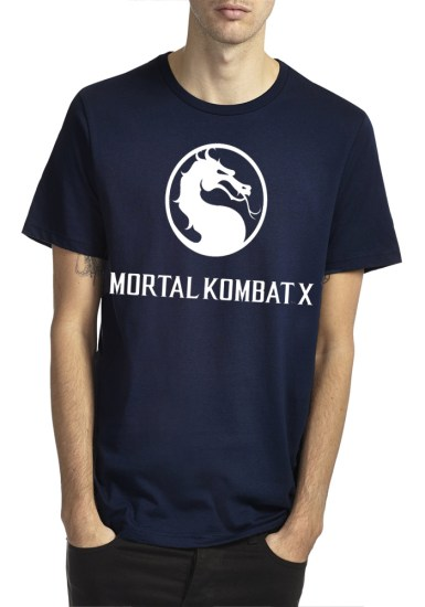 mortal kombat x navy blue t-shirt
