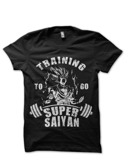 training for goku black t -shirt