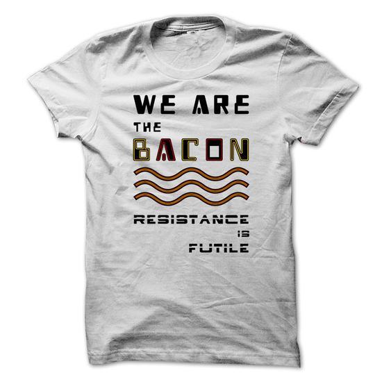 bacon white tee