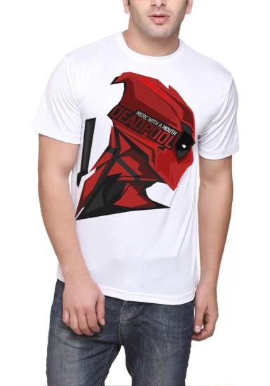 deadpool white t-shirt