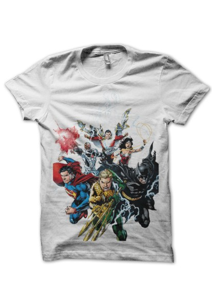 justice league2 white tee