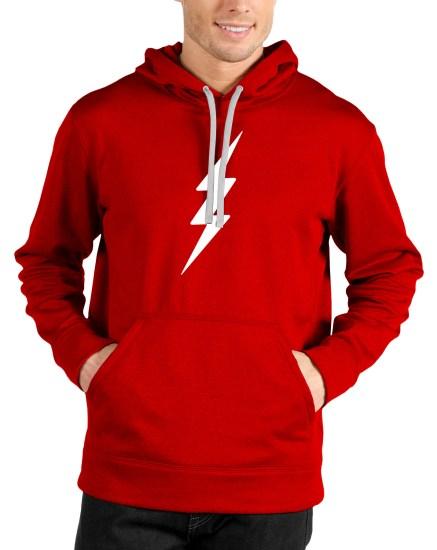 new flash red hoodie