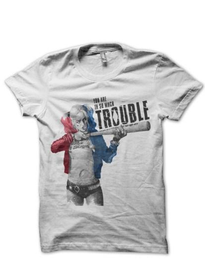 trouble-white-tee