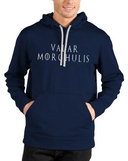 valar morghulis navy blue hoodie
