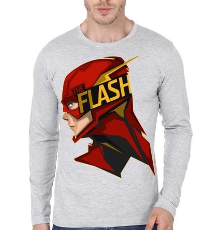 flash grey full sleeve tee