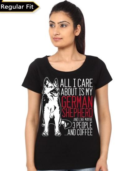 german shepard black girls t-shirt