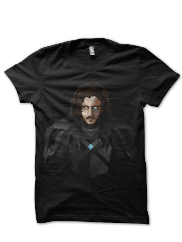jon snow black t-shirt