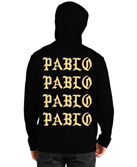 paris pablo black hoodie back