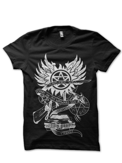 supernatural black t-shirt