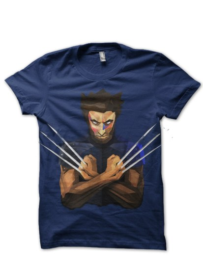 wolverine navy blue t-shirt