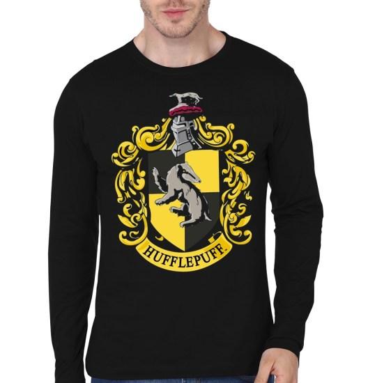 hufflepuf black full t-shirt