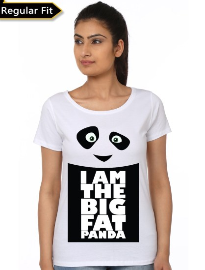 i am big fat panda white girls t-shirt