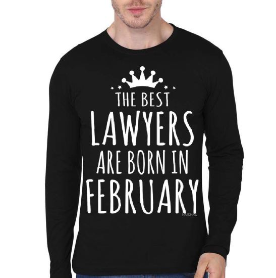 the best lawyer are born in february black full sleeve t-shirt