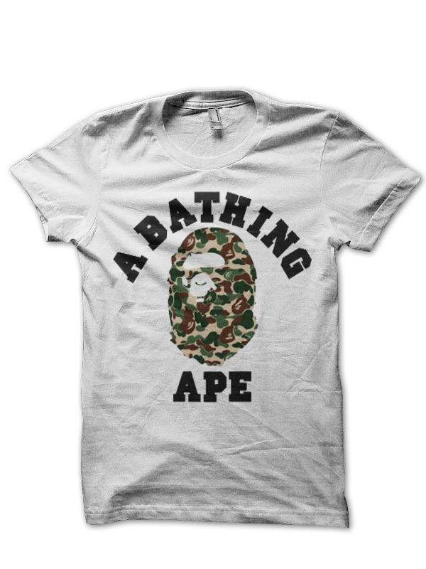 A Bathing Ape White T Shirt Swag Shirts