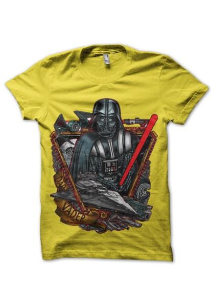 darth vader yellow tshirt