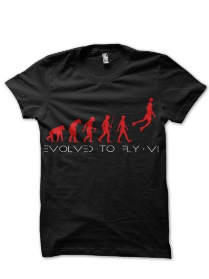 evolution black tshirt