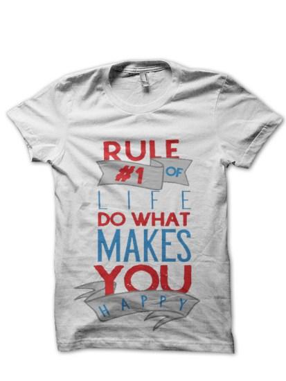 rule white tshirt