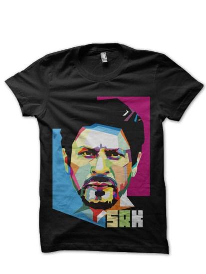 srk black t shirt