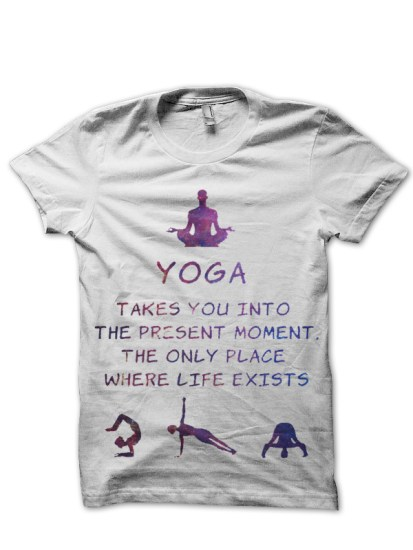 yoga white tshirt