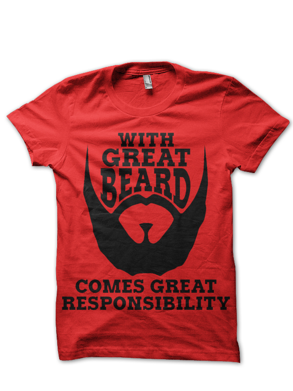 BEARD, T-SHIRT top Respect The Beard T Shirt GREAT BEARD RESPONSIBILITY SWAG