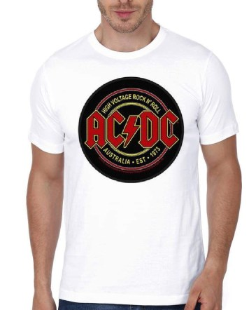 AC DC White T shirt