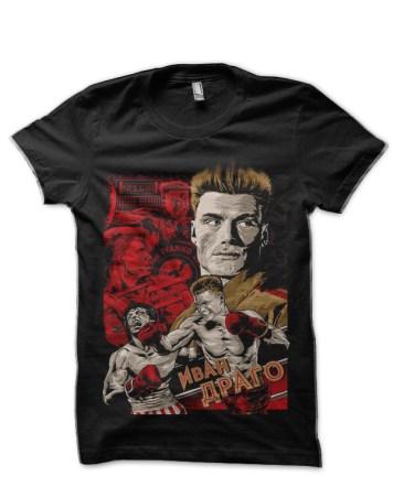 rocky vs drago black tshirt
