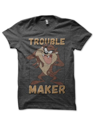 disney trouble maker charcoal grey tshirt
